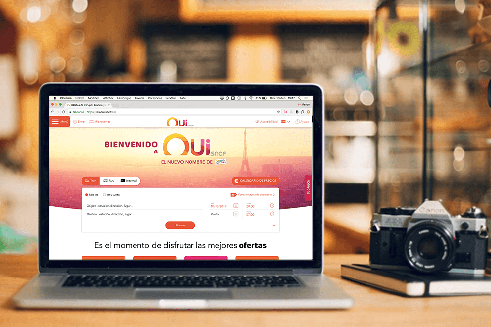 <strong><br/>OUI.sncf<BR></strong> Web Design