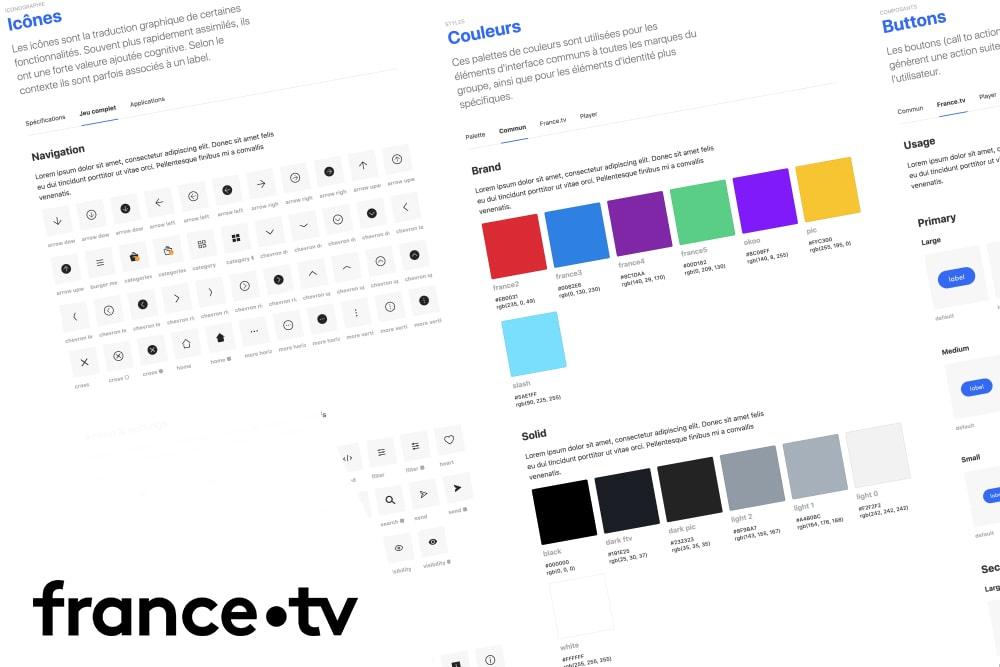 <br/>Design System<BR> France Télévisions